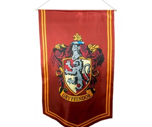 harry potter, collectables, and gryffindor satin banner image