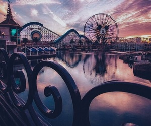 sunset, theme, and disney image