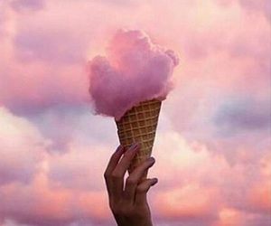 pink, clouds, and ice cream image
