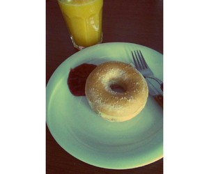 donnut, eat, and morning image
