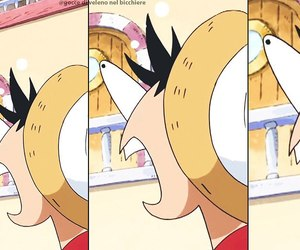 anime, luffy, and onepiece image