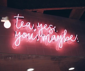 tea, neon, and pink image