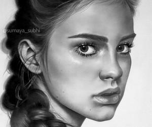 art, drawing, and black and white image