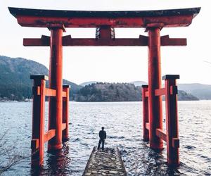 japan, sea, and photography image