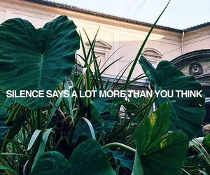 quotes, silence, and green image