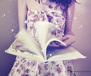 book, magic, and dress image