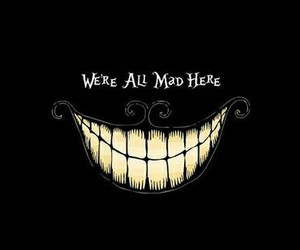 mad, smile, and alice in wonderland image