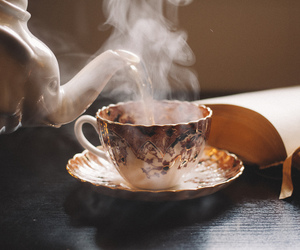 cup, water, and tea image