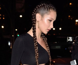 bella hadid, model, and braids image