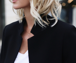 blonde hair, chic, and fashion image