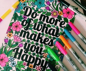color, flores, and frase image