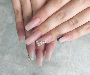 nails, Nude, and nails love image