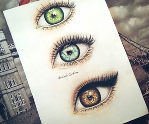 eyes, green, and brown image