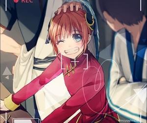 gintama, kagura, and anime image