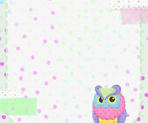 colorful, owl, and pastel image