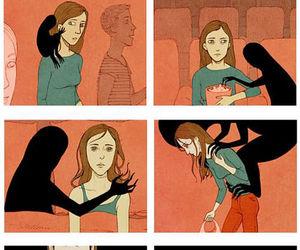 depression, sad, and Darkness image