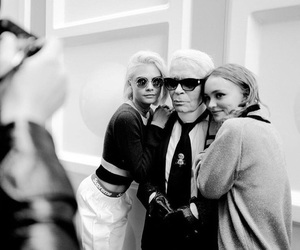 backstage, chanel, and model image
