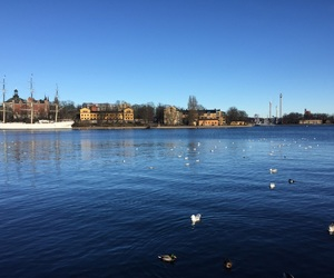 stockholm, sun, and winter image
