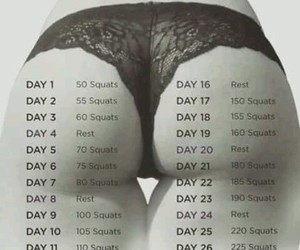 challenge, squats, and butt image