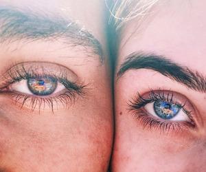 eyes, couple, and summer image