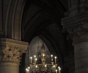 dark, chandelier, and Darkness image