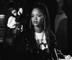 rihanna, black and white, and style image