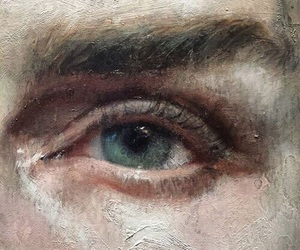 art, painting, and eyes image