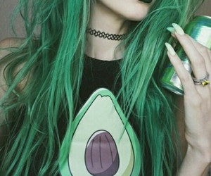 hair, green, and tumblr image