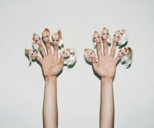 barbie, hands, and grunge image
