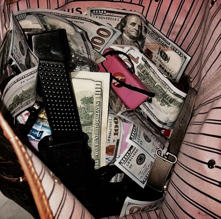 cash, lit, and dark grunge image