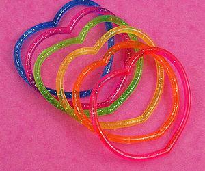 bracelet, glitter, and rainbow image
