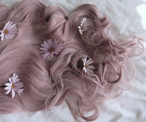 blonde hair, flowers, and hair image