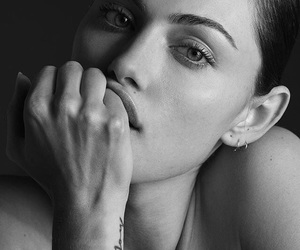 phoebe tonkin, black and white, and model image