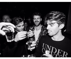black and white, martin garrix, and chainsmokers image
