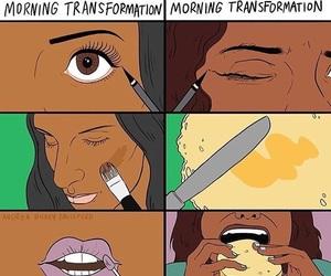 comic, funny, and makeup image