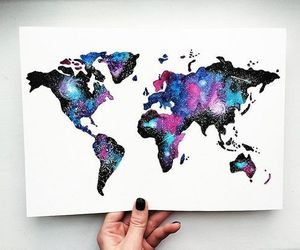 art, world, and galaxy image