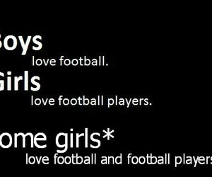 football, girl, and boy image