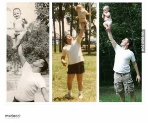 funny, baby, and dad image