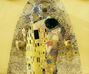 art, Gustav Klimt, and yellow image