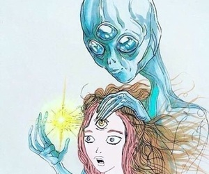 alien, psychedelic, and lol image