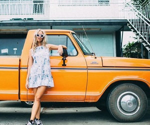 car, style, and sunglasses image