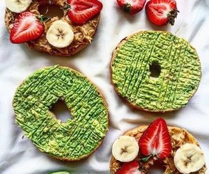 avocado, fitfood, and strawberry image