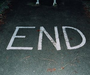end, photography, and text image