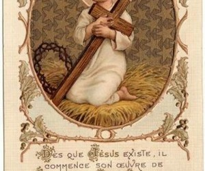 child, french, and jesus image