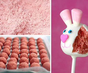 bunny, pink, and recipe image