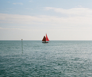 sea, photography, and boat image