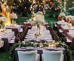 wedding, party, and garden image