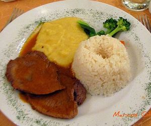 food, peruvian food, and meat image