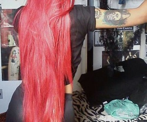 hair, long, and red image