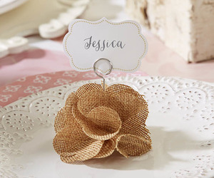 rustic wedding, rustic wedding decor, and burlap place card holders image